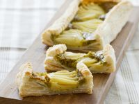 Pear and Pistachio Puff Pastry Tart recipe