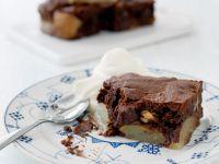 Pear Chocolate Cake with Walnuts recipe