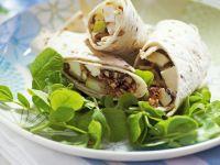 Pear, Hazelnut, Fig and Mozzarella Wraps recipe