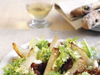 Pear, Pancetta, and Greek Cheese Salad recipe