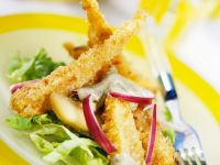 Pear Salad with Baked Parsnips recipe
