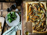 Pear Tart with Blue Cheese and Walnuts recipe