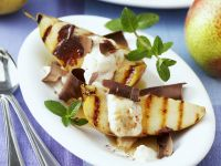 Pears with Chocolate Curls recipe