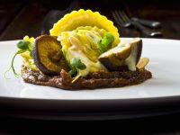 Pecorino and Asparagus Ravioli with Shiitake Mushrooms and Lemon Butter recipe
