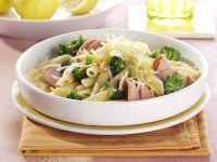 Penne with Broccoli and Mortadella recipe