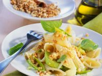 Penne with Leeks and Almonds recipe