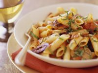 Penne with Tomato and Olives recipe