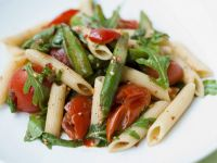 Penne with Tomatoes, Asparagus and Rocket recipe