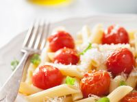 Penne with Tomatoes, Basil and Parmesan recipe