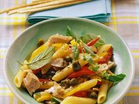 Penne with Tuna and Bell Peppers recipe