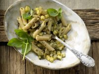 Penne with Zucchini and Capers recipe