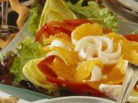 Pepper and Orange Salad with Honey Mustard Vinaigrette recipe