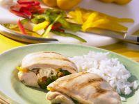 Pepper and Rice Stuffed Chicken recipe
