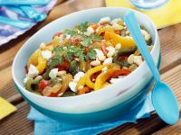 Pepper and Soft Cheese Salad Bowl recipe