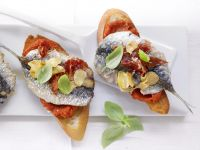 Pepper Crostini with Sardines recipe