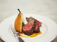 Pepper-crusted Beef with Caramelized Pears recipe