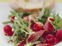 Pepper Salad with Raspberries and Duck Breast recipe