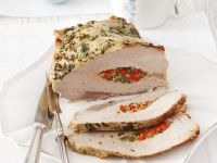 Pepper Stuffed Pork Loin recipe