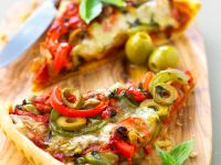 Pepper Tart with Olives recipe