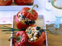 Peppers with Vegetable Rice Stuffing recipe