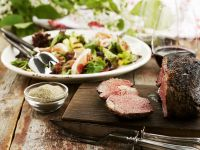 Peppery Beef with Salad recipe