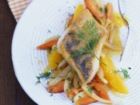 Perch Fillet with Fruity Fennel and Carrots recipe