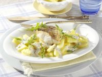 Perch Fillet with Potato and Pineapple Salad recipe
