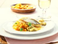 Perch Fillet with Pumpkin Gnocchi and Pesto recipe