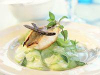Perch Fillets with Citrus-Vanilla Cucumber Salad recipe