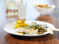 Perch Fillets with Lentils and Oranges recipe