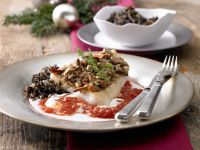 Perch Fillets with Mushroom Crust