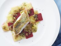Perch Fillets with Potato and Beet Salad recipe