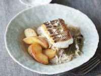Perch Fillets with Sauerkraut and Glazed Apples recipe