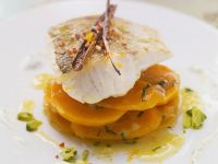 Perch on Carrot Salad with Yogurt-Dill Dressing recipe