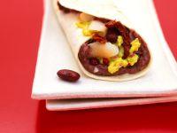 Perch, Red Bean and Avocado Tortilla Wraps recipe