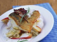 Perch with Creamy Apple Sauerkraut recipe