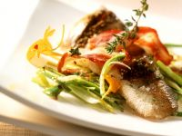 Perch with Leeks and Bacon recipe