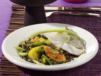 Perch with Lentils and Tropical Fruit recipe