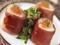 Perch with Prosciutto and Zucchini Relish recipe