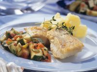 Perch with Zucchini and Tomatoes recipe