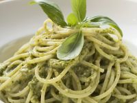 Pesto and Basil Spaghetti recipe