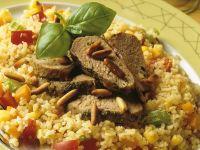 Pesto Lamb with Bulgur recipe