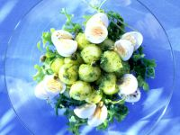 Pesto Potato Salad with Quail Eggs recipe