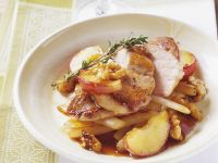 Pheasant Breast with Apples and Walnuts recipe