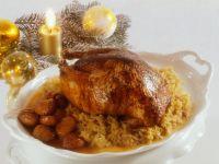 Pheasant with Champagne Sauerkraut and Chestnuts recipe