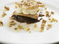 Phyllo S'mores Stacks with Walnuts recipe