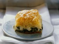 Phyllo Square with Spinach recipe