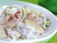 Pickled Herring Salad with Radishes and Apple recipe