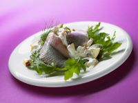Pickled Herring with Apple and Creamy Dill Sauce recipe