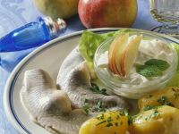 Pickled Herring with Apple-Potato Salad recipe